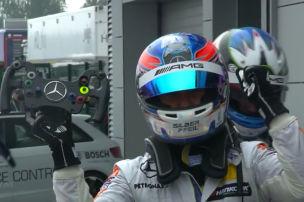 Mercedes-Show im Russland-Regen