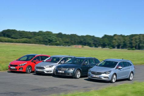 Ford Focus Kia cee'd Opel Astra Skoda Octavia