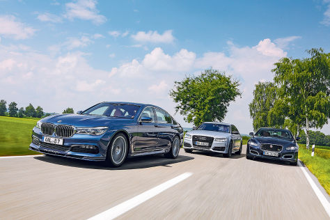 Alpina B7 Biturbo Audi S8 Plus Jaguar XJR