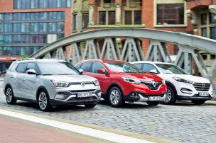 Renault Kadjar/Hyundai Tucson/SangYong XLV: SUV-Test