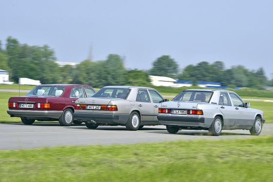Ein Motor, drei Mercedes