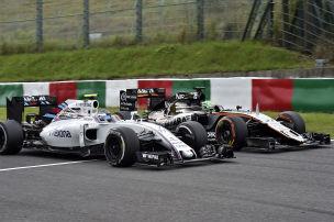 Williams und Force India im Duell