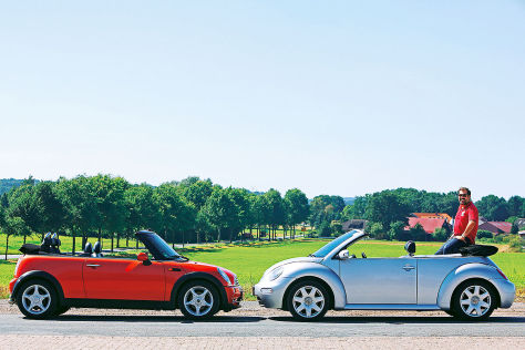 Mini Cooper Cabrio, VW Beetle 1.6 Cabrio