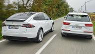 Audi SQ7/Tesla Model X: Test