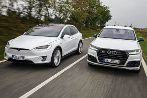 Audi SQ7/Tesla Model X: Test