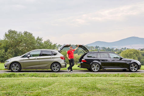BMW 218i Active Tourer, BMW M5 Touring (E61)