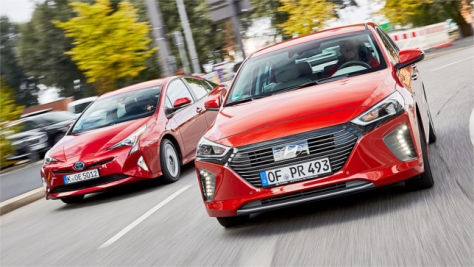 Hyundai Ioniq/Toyota Prius: Test