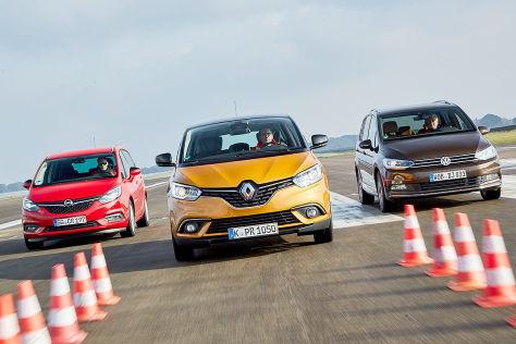 Opel Zafira Renault Scénic VW Touran