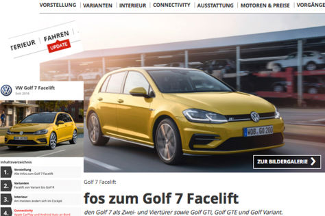 AUTO BILD: Neue Modellseite