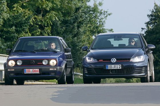 vw golf 2 gti g60 golf 7 gti gebrauchtwagen test. Black Bedroom Furniture Sets. Home Design Ideas