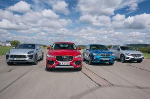 BMW X4/Jaguar F-Pace/Mercedes GLC/Porsche Macan: Test