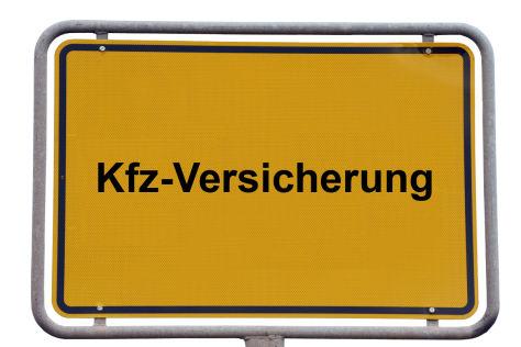 Kfz-Versicherung, Ortsschild