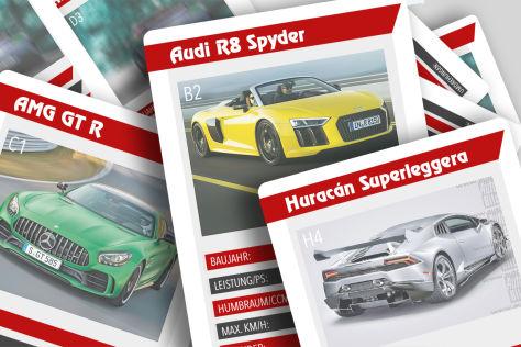 Audi R8, AMG GT C Roadster, Huracán Superleggera