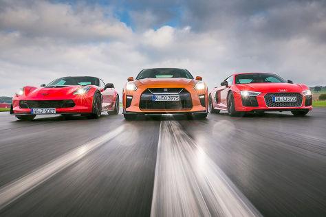 Audi R8 Chevrolet Corvette Nissan GT-R