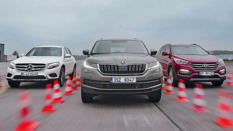 Hyundai Santa Fe/Mercedes GLC/Skoda Kodiaq: Test