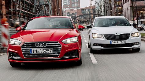 Audi A5 Sportback/Skoda Superb: Test