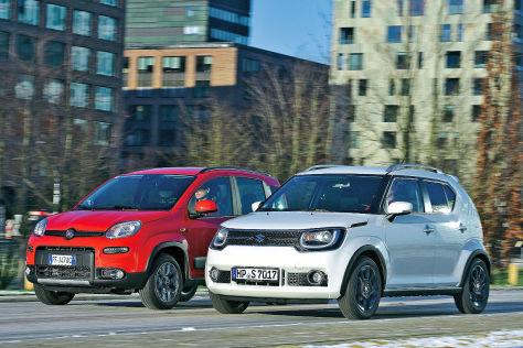 Kleine Allradler Suzuki Ignis Trifft Auf Fiat Panda 4x4