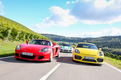 Porsche 911 R Porsche Carrera GT Porsche Cayman GT4