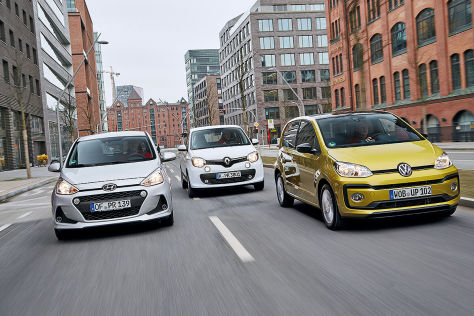 Hyundai i10 Renault Twingo VW Up