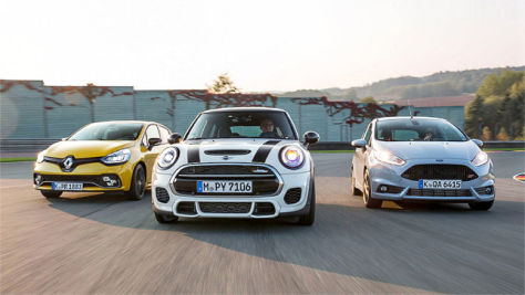 Ford Fiesta ST 200/Mini JCW Pro/Renault Clio RS 220: Test