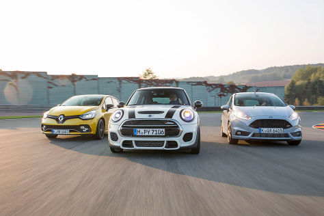 Ford Fiesta ST 200 Mini JCW Pro Renault Clio RS 220