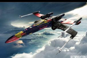 Star Wars Kampfflieger im F1-Look