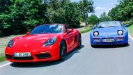 Porsche 718 Boxster/Porsche 944 Turbo Cabrio: Fahrbericht