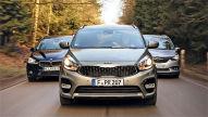 BMW 2er Gran Tourer/Kia Carens/Opel Zafira: Test