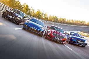 RS 7/CTS-V/Charger SRT Hellcat/Panamera Turbo: V8-Test