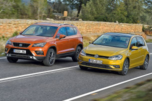 Seat Ateca/VW Golf: Test
