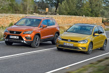 Seat Ateca/VW Golf: Test