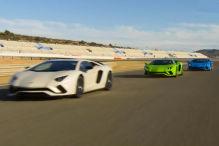 Der Aventador S auf der Rennstrecke