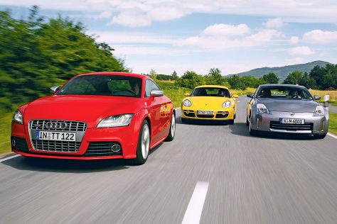 Audi TT S, Porsche Cayman, Nissan 350 Z
