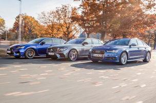 Audi S6/Lexus GS F/Mercedes-AMG E 43: Test