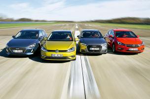 VW Golf/Audi A3/Hyundai i30/Opel Astra: Test