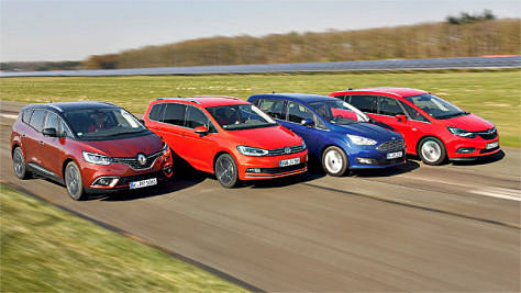 VW Touran/Ford Grand C-Max/Opel Zafira/Renault Grand Scénic: Test
