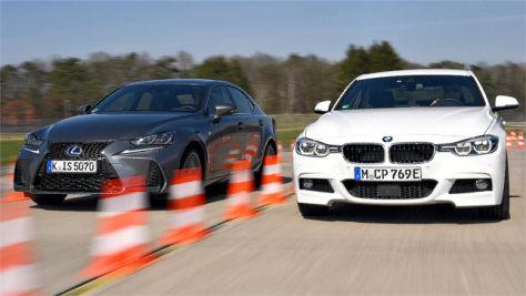 BMW 330e iPerformance/Lexus IS 300h: Test
