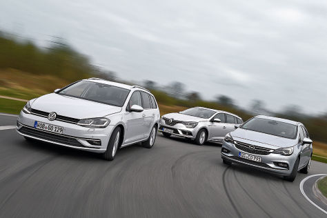 Opel Astra Renault Mégane VW Golf