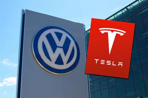 VW gegen Tesla: Elektroautos