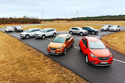 Fünf Auto-Paare im Allrad-Test