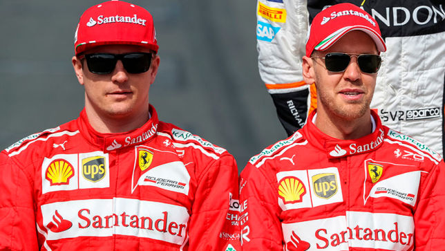 Vettel und Raikkonen beim Fußball