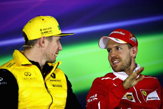 Hülkenberg & Vettel