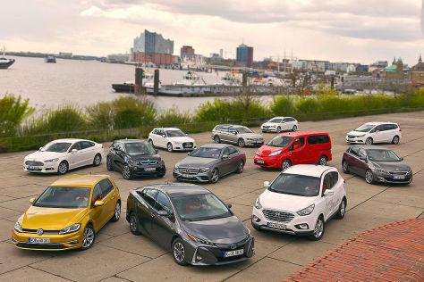Zwölf aktuelle Modelle im AUTO BILD-Eco-Index