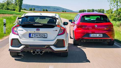 Honda Civic Type R/Seat Leon Cupra: Test