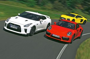 GT-R heizt Audi und Porsche ein