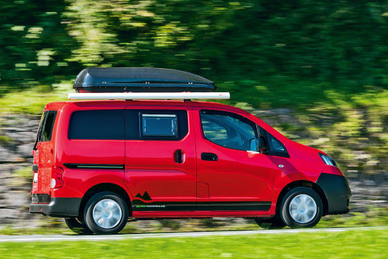 nissan nv200 alpincamper wohnmobil test. Black Bedroom Furniture Sets. Home Design Ideas