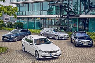 Audi A6/BMW 5er/Mercedes E-Klasse/Volvo V90: Test
