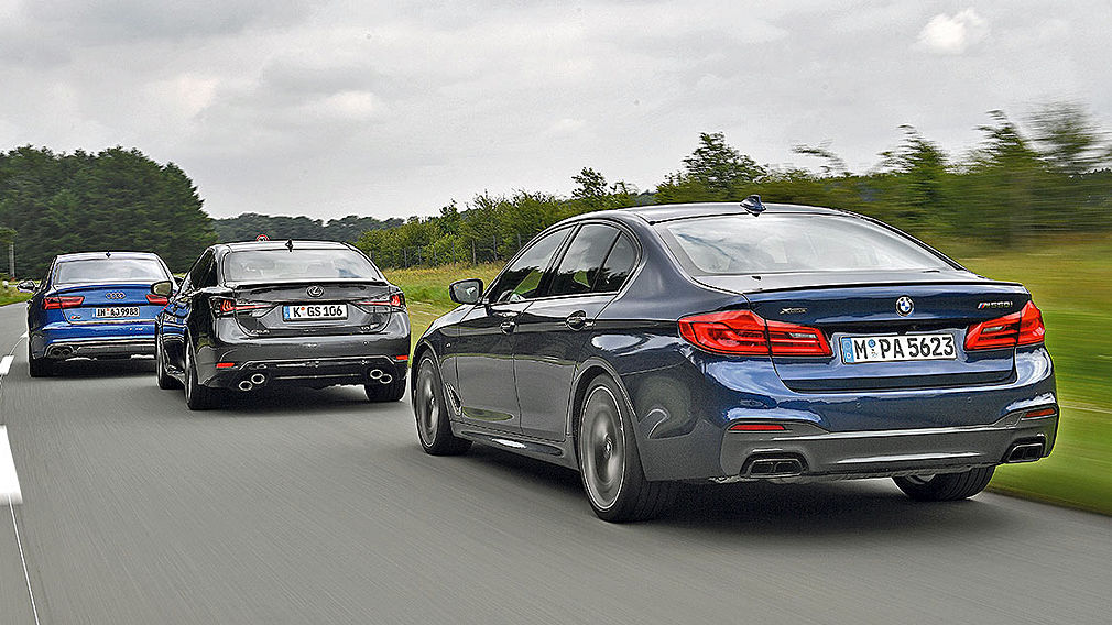 Tests Audi S6 BMW M550i Lexus GS F V8 Test