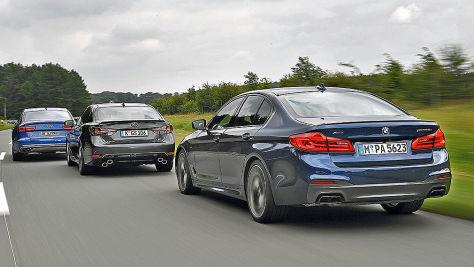 Audi S6/BMW M550i/Lexus GS F: V8-Test