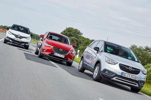 Mazda CX-3/Opel Crossland X/Renault Captur: Test